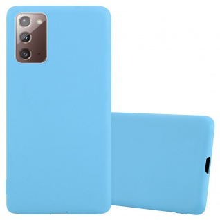 Cadorabo Hülle für Samsung Galaxy NOTE 20 in CANDY BLAU Handyhülle aus flexiblem TPU Silikon Silikonhülle Schutzhülle Ultra Slim Soft Back Cover Case Bumper