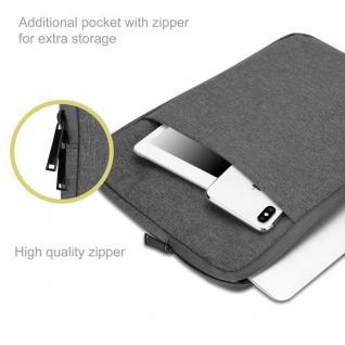 """"""" Cadorabo Laptop / Tablet Tasche 13, 3'"""" Zoll in DUNKEL GRAU ? Notebook Computer Tasche aus Stoff mit Samt-Innenfutter und Fach mit Anti-Kratz Reißverschluss ? Schutzhülle Sleeve Case"""" - Vorschau 3"""