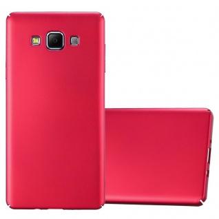 Cadorabo Hülle für Samsung Galaxy A7 2015 in METALL ROT - Hardcase Handyhülle aus Plastik gegen Kratzer und Stöße - Schutzhülle Bumper Ultra Slim Back Case Hard Cover