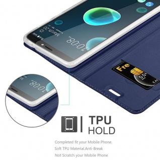 Cadorabo Hülle für HTC Desire 12 PLUS in CLASSY DUNKEL BLAU - Handyhülle mit Magnetverschluss, Standfunktion und Kartenfach - Case Cover Schutzhülle Etui Tasche Book Klapp Style - Vorschau 5