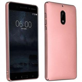 Cadorabo Hülle für Nokia 6 2017 in METALL ROSÉ GOLD ? Hardcase Handyhülle aus Plastik gegen Kratzer und Stöße ? Schutzhülle Bumper Ultra Slim Back Case Hard Cover