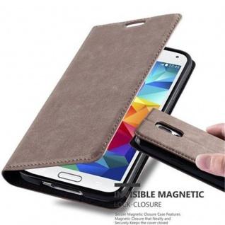 Cadorabo Hülle für Samsung Galaxy S5 / S5 NEO in KAFFEE BRAUN - Handyhülle mit Magnetverschluss, Standfunktion und Kartenfach - Case Cover Schutzhülle Etui Tasche Book Klapp Style