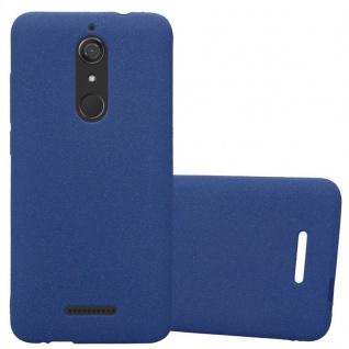 Cadorabo Hülle für WIKO VIEW in FROST DUNKEL BLAU - Handyhülle aus flexiblem TPU Silikon - Silikonhülle Schutzhülle Ultra Slim Soft Back Cover Case Bumper