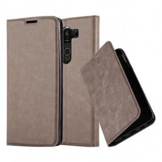 Cadorabo Hülle für LG V10 in KAFFEE BRAUN - Handyhülle mit Magnetverschluss, Standfunktion und Kartenfach - Case Cover Schutzhülle Etui Tasche Book Klapp Style
