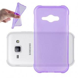 Cadorabo Hülle für Samsung Galaxy J1 ACE in TRANSPARENT LILA - Handyhülle aus flexiblem TPU Silikon - Silikonhülle Schutzhülle Ultra Slim Soft Back Cover Case Bumper