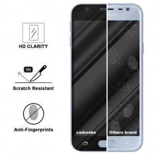 Cadorabo Vollbild Panzer Folie für Samsung Galaxy J3 PRO - Schutzfolie in TRANSPARENT mit SCHWARZ - Gehärtetes (Tempered) Display-Schutzglas in 9H Härte mit 3D Touch Kompatibilität - Vorschau 3