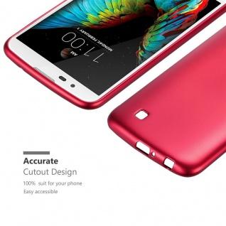 Cadorabo Hülle für LG K10 2016 in METALLIC ROT - Handyhülle aus flexiblem TPU Silikon - Silikonhülle Schutzhülle Ultra Slim Soft Back Cover Case Bumper - Vorschau 5