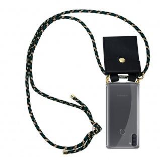 Cadorabo Handy Kette für Samsung Galaxy M11 in CAMOUFLAGE Silikon Necklace Umhänge Hülle mit Gold Ringen, Kordel Band Schnur und abnehmbarem Etui Schutzhülle