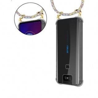 Cadorabo Handy Kette für Asus ZenFone 6 in RAINBOW - Silikon Necklace Umhänge Hülle mit Gold Ringen, Kordel Band Schnur und abnehmbarem Etui ? Schutzhülle - Vorschau 5