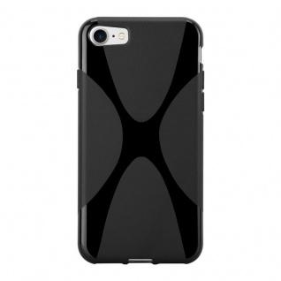 Cadorabo Hülle für Apple iPhone 8 / iPhone 7 / iPhone 7S in OXID SCHWARZ ? Handyhülle aus flexiblem TPU Silikon ? Silikonhülle Schutzhülle Ultra Slim Soft Back Cover Case Bumper