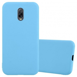 Cadorabo Hülle für Samsung Galaxy J7 PLUS / C7 2017 / J7310 in CANDY BLAU Handyhülle aus flexiblem TPU Silikon Silikonhülle Schutzhülle Ultra Slim Soft Back Cover Case Bumper
