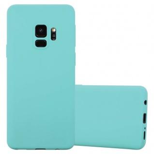Cadorabo Hülle für Samsung Galaxy S9 in CANDY BLAU - Handyhülle aus flexiblem TPU Silikon - Silikonhülle Schutzhülle Ultra Slim Soft Back Cover Case Bumper