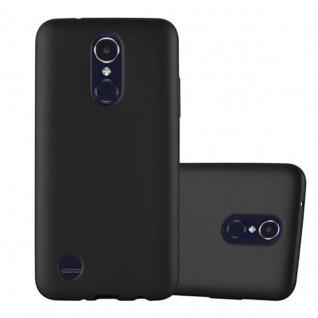Cadorabo Hülle für LG K8 2017 in METALLIC SCHWARZ - Handyhülle aus flexiblem TPU Silikon - Silikonhülle Schutzhülle Ultra Slim Soft Back Cover Case Bumper