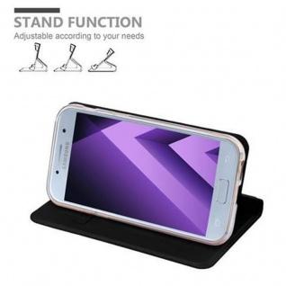 Cadorabo Hülle für Samsung Galaxy A3 2017 in CLASSY SCHWARZ - Handyhülle mit Magnetverschluss, Standfunktion und Kartenfach - Case Cover Schutzhülle Etui Tasche Book Klapp Style - Vorschau 4