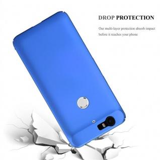 Cadorabo Hülle für Huawei NEXUS 6P in METALL BLAU ? Hardcase Handyhülle aus Plastik gegen Kratzer und Stöße ? Schutzhülle Bumper Ultra Slim Back Case Hard Cover - Vorschau 3