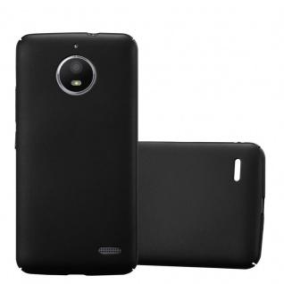 Cadorabo Hülle für Motorola MOTO E4 in METALL SCHWARZ - Hardcase Handyhülle aus Plastik gegen Kratzer und Stöße - Schutzhülle Bumper Ultra Slim Back Case Hard Cover
