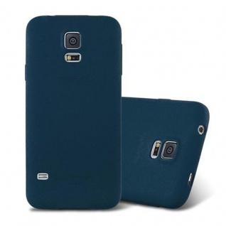 Cadorabo Hülle für Samsung Galaxy S5 / S5 NEO in FROST DUNKEL BLAU - Handyhülle aus flexiblem TPU Silikon - Silikonhülle Schutzhülle Ultra Slim Soft Back Cover Case Bumper