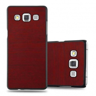 Cadorabo Hülle für Samsung Galaxy A5 2015 in WOODY ROT ? Hardcase Handyhülle aus Plastik gegen Kratzer und Stöße ? Schutzhülle Bumper Ultra Slim Back Case Hard Cover