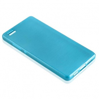 Cadorabo Hülle für Huawei P8 LITE 2015 in TÜRKIS - Handyhülle aus flexiblem TPU Silikon - Silikonhülle Schutzhülle Ultra Slim Soft Back Cover Case Bumper - Vorschau 4