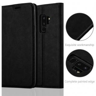 Cadorabo Hülle für Samsung Galaxy S9 PLUS in NACHT SCHWARZ - Handyhülle mit Magnetverschluss, Standfunktion und Kartenfach - Case Cover Schutzhülle Etui Tasche Book Klapp Style - Vorschau 2