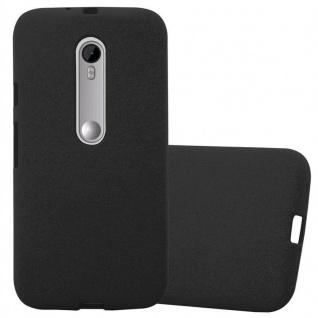 Cadorabo Hülle für Motorola MOTO G3 in FROST SCHWARZ - Handyhülle aus flexiblem TPU Silikon - Silikonhülle Schutzhülle Ultra Slim Soft Back Cover Case Bumper