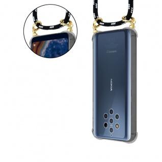 Cadorabo Handy Kette für Nokia 10 in SCHWARZ SILBER Silikon Necklace Umhänge Hülle mit Gold Ringen, Kordel Band Schnur und abnehmbarem Etui Schutzhülle - Vorschau 5
