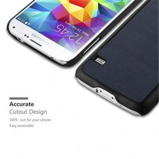 Cadorabo Hülle für Samsung Galaxy S5 MINI / S5 MINI DUOS in WOODY BLAU - Hardcase Handyhülle aus Plastik gegen Kratzer und Stöße - Schutzhülle Bumper Ultra Slim Back Case Hard Cover - Vorschau 2