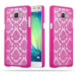 Samsung Galaxy A5 2015 Hardcase Hülle in PINK von Cadorabo - Blumen Paisley Henna Design Schutzhülle ? Handyhülle Bumper Back Case Cover