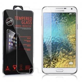 Cadorabo Panzerglas für Samsung Galaxy E5 - Schutzfolie in KRISTALL KLAR ? Gehärtetes (Tempered) Display-Schutzglas in 9H Härte mit 3D Touch Kompatibilität