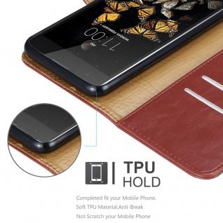 Cadorabo Hülle für LG K8 2016 in WEIN ROT ? Handyhülle mit Magnetverschluss, Standfunktion und Kartenfach ? Case Cover Schutzhülle Etui Tasche Book Klapp Style - Vorschau 3