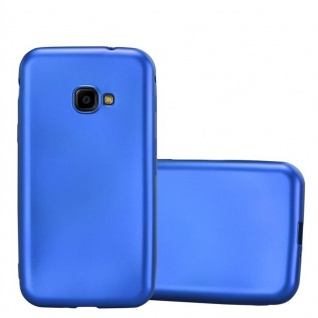 Cadorabo Hülle für Samsung Galaxy Xcover 4 in METALLIC BLAU - Handyhülle aus flexiblem TPU Silikon - Silikonhülle Schutzhülle Ultra Slim Soft Back Cover Case Bumper