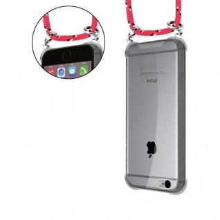 Cadorabo Handy Kette für Apple iPhone 6 PLUS / iPhone 6S PLUS in PINK SCHWARZ WEISS GEPUNKTET - Silikon Necklace Umhänge Hülle mit Silber Ringen, Kordel Band Schnur und abnehmbarem Etui - Schutzhülle - Vorschau 5
