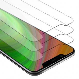 Cadorabo 3x Panzer Folie für Nokia 7.1 PLUS / X7 - Schutzfolie in KRISTALL KLAR - 3er Pack Gehärtetes (Tempered) Display-Schutzglas in 9H Härte mit 3D Touch Kompatibilität