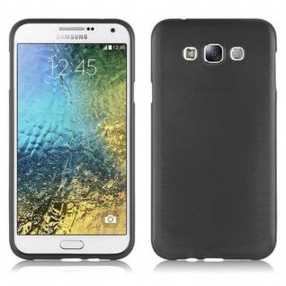 Cadorabo Hülle für Samsung Galaxy E7 2015 in SCHWARZ - Handyhülle aus flexiblem TPU Silikon - Silikonhülle Schutzhülle Ultra Slim Soft Back Cover Case Bumper