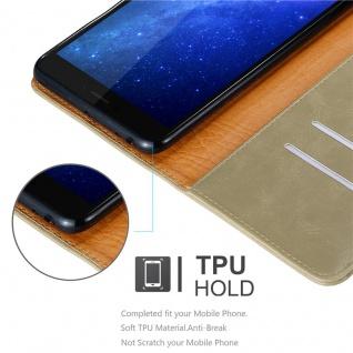 Cadorabo Hülle für Xiaomi Mi Max 2 in CAPPUCCINO BRAUN - Handyhülle mit Magnetverschluss, Standfunktion und Kartenfach - Case Cover Schutzhülle Etui Tasche Book Klapp Style - Vorschau 3