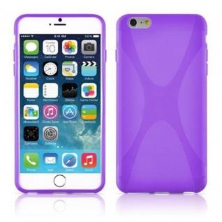 Cadorabo Hülle für Apple iPhone 6 PLUS / iPhone 6S PLUS - Hülle in FLIEDER VIOLETT ? Handyhülle aus flexiblem TPU Silikon im X-Line Design - Ultra Slim Soft Backcover Case Bumper