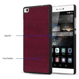 Cadorabo Hülle für Huawei P8 in WOODY ROT ? Hardcase Handyhülle aus Plastik gegen Kratzer und Stöße ? Schutzhülle Bumper Ultra Slim Back Case Hard Cover - Vorschau 3