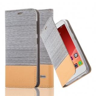 Cadorabo Hülle für ZTE Blade S6 in HELL GRAU BRAUN Handyhülle mit Magnetverschluss, Standfunktion und Kartenfach Case Cover Schutzhülle Etui Tasche Book Klapp Style
