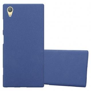 Cadorabo Hülle für Sony Xperia XA1 PLUS in FROST DUNKEL BLAU - Handyhülle aus flexiblem TPU Silikon - Silikonhülle Schutzhülle Ultra Slim Soft Back Cover Case Bumper