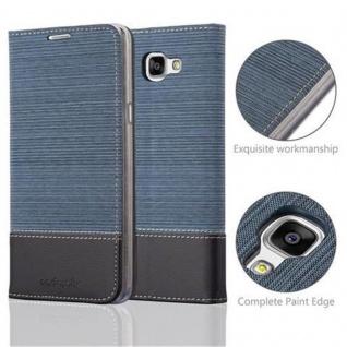 Cadorabo Hülle für Samsung Galaxy A9 2016 in DUNKEL BLAU SCHWARZ - Handyhülle mit Magnetverschluss, Standfunktion und Kartenfach - Case Cover Schutzhülle Etui Tasche Book Klapp Style