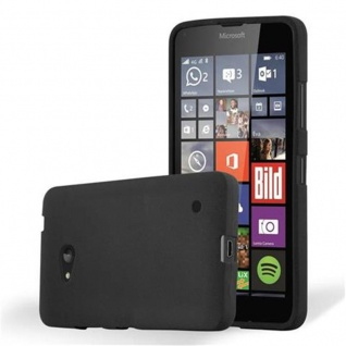 Cadorabo Hülle für Nokia Lumia 640 in FROST SCHWARZ - Handyhülle aus flexiblem TPU Silikon - Silikonhülle Schutzhülle Ultra Slim Soft Back Cover Case Bumper