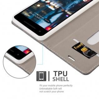 Cadorabo Hülle für Google Pixel 2 in GRAU SCHWARZ - Handyhülle mit Magnetverschluss, Standfunktion und Kartenfach - Case Cover Schutzhülle Etui Tasche Book Klapp Style - Vorschau 2