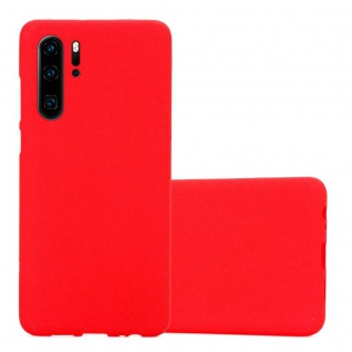 Cadorabo Hülle für Huawei P30 PRO in FROST ROT Handyhülle aus flexiblem TPU Silikon Silikonhülle Schutzhülle Ultra Slim Soft Back Cover Case Bumper