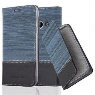 Cadorabo Hülle für Samsung Galaxy Xcover 3 in DUNKEL BLAU SCHWARZ - Handyhülle mit Magnetverschluss, Standfunktion und Kartenfach - Case Cover Schutzhülle Etui Tasche Book Klapp Style