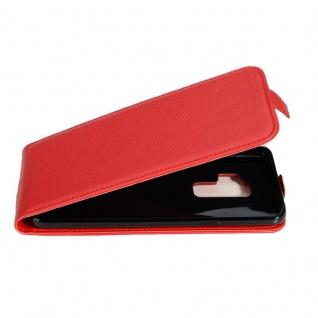 Cadorabo Hülle für Samsung Galaxy S9 PLUS in INFERNO ROT - Handyhülle im Flip Design aus strukturiertem Kunstleder - Case Cover Schutzhülle Etui Tasche Book Klapp Style