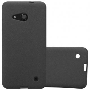 Cadorabo Hülle für Nokia Lumia 550 in FROST SCHWARZ - Handyhülle aus flexiblem TPU Silikon - Silikonhülle Schutzhülle Ultra Slim Soft Back Cover Case Bumper