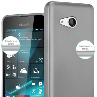 Cadorabo Hülle für Nokia Lumia 550 in METALLIC GRAU - Handyhülle aus flexiblem TPU Silikon - Silikonhülle Schutzhülle Ultra Slim Soft Back Cover Case Bumper - Vorschau 4
