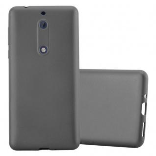 Cadorabo Hülle für Nokia 5 2017 in METALLIC GRAU - Handyhülle aus flexiblem TPU Silikon - Silikonhülle Schutzhülle Ultra Slim Soft Back Cover Case Bumper