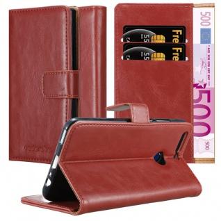 Cadorabo Hülle für Honor 8 PRO in WEIN ROT - Handyhülle mit Magnetverschluss, Standfunktion und Kartenfach - Case Cover Schutzhülle Etui Tasche Book Klapp Style