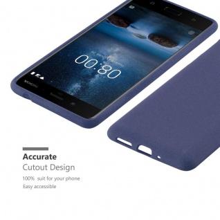 Cadorabo Hülle für Nokia 8 2017 in FROST DUNKEL BLAU - Handyhülle aus flexiblem TPU Silikon - Silikonhülle Schutzhülle Ultra Slim Soft Back Cover Case Bumper - Vorschau 2
